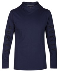 Hurley Men's The One Logo Print Pullover Hoodie Obsidian