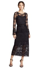 Loyd Ford Lace Dress Black