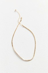 Urban Outfitters Cara Heavy Curb Chain Necklace Gold