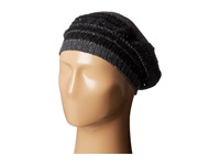 Lauren Ralph Lauren Bohemian Heiress Beret Dark Grey Donegal Berets Black