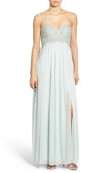 Women's Sequin Hearts Embellished Strapless Gown