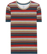 Tory Burch Printed Cotton T Shirt Multicoloured