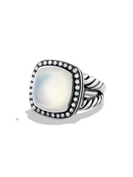 David Yurman Albion Ring With Diamonds Black Orchid Lavender Moon Quartz Green Onyx Guava