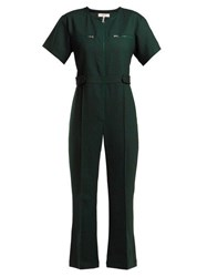 Sea Tradition Technical Fabric Jumpsuit Dark Green