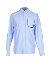 Wood Wood Woodwood Shirts Shirts Men Pastel Blue