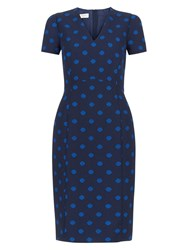 Hobbs Meredith Dress Electric Blue Navy