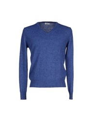 Heritage Knitwear Jumpers Men Blue