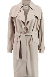 Iris And Ink Adelisa Modal Blend Cupro Trench Coat Nude