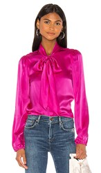 Cami Nyc The Ellery Charmeuse Top In Pink. Nebula