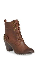Bella Vita Women's 'Kennedy' Lace Up Bootie Brown Leather