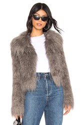 Unreal Fur The Passage Of Venuss Faux Jacket Gray