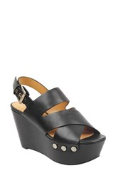 Marc Fisher Ltd Bianka Platform Wedge Sandal Black Leather