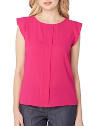 Tahari By Arthur S. Levine Front Panel Woven Top