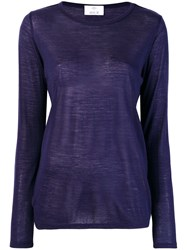 Allude Long Sleeved T Shirt Blue