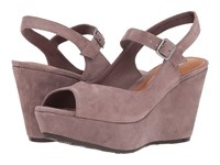 Trask Tessa Blush Oiled Suede Wedge Shoes Pink