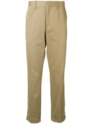 Z Zegna Slim Fit Chinos Nude And Neutrals