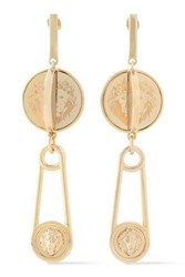 Versus By Versace Gold Tone Earrings Gold