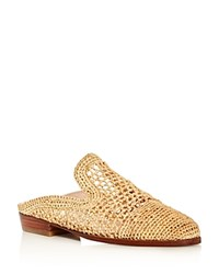 Robert Clergerie Antes Woven Mules Light Beige