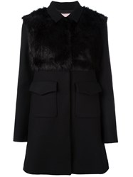 Giamba Flap Pockets Coat Black