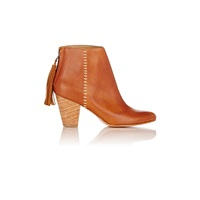 Ulla Johnson Griffin Tassel Ankle Boots Cognac