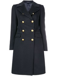 Tagliatore Naval Inspired Coat Blue