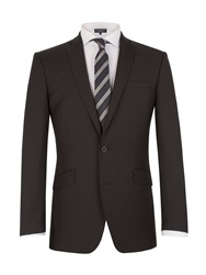 Racing Green Tailored Fit Suit Jacket Black