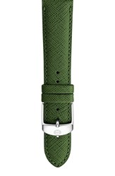 Women's Michele 20Mm Leather Watch Strap Dark Green Limited Edition
