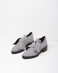 Proenza Schouler Felted Obi Knot Loafer Ice