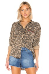 Pam And Gela Oversized Shirt Brown