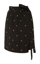 Alexis Mabille Daisy Wrap Skirt Dark Grey