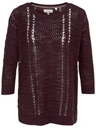 Fat Face Polly Pointelle Jumper Blackberry