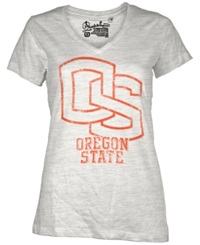 Royce Apparel Inc Women's Short Sleeve Oregon State Beavers V Neck T Shirt White