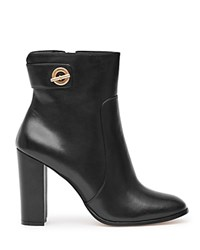 Reiss Hepworth Block Heel Booties Black