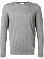 Laneus Crew Neck Jumper Silk Cashmere Grey