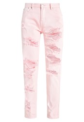 Glamorous Relaxed Fit Jeans Light Pink