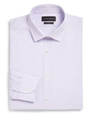 Ralph Lauren Black Label Classic Fit Gingham Dress Shirt Lavender