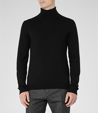 Reiss Observe Mens Rollneck Jumper In Black