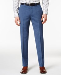 Bar Iii Men's Dusty Blue Solid Slim Fit Pants Only At Macy's