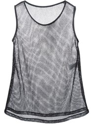 Dolce And Gabbana Mesh Tank Black