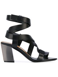 Tom Ford Strappy Heeled Sandals Women Calf Leather Leather Brass 35 Black