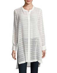 Vince Camuto Textured Button Front Tunic New Ivory