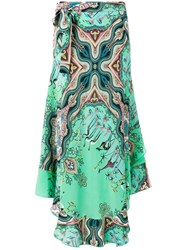 Etro Nature Print Skirt Green