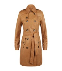 Set Leather Trench Coat Female Tan