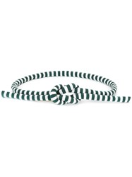 Ports 1961 Striped Rope Belt Green