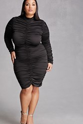 Forever 21 Plus Size Ruched Zipper Dress
