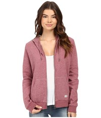 Volcom Lived In Fleece Zip Hoodie Crimson Women's Sweatshirt Red