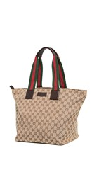 Wgaca What Goes Around Comes Around Gucci Brown Canvas Tote Bag