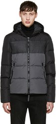 Duvetica Black And Grey Cadel Down Jacket