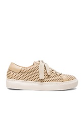 By Malene Birger Rawani Perforated Leather Sneakers In Neutrals