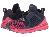 Puma Ignite Limitless Color Block Peacoat Sparkling Cosmo Women's Shoes Black